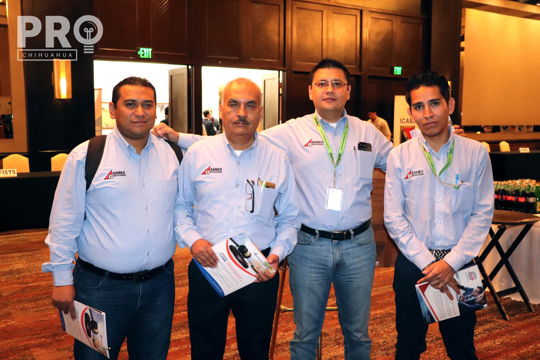José Eliacib, Leonardo Macías, Ernesto González y Pedro Alvarado
