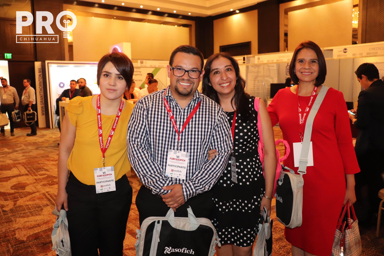 Alicia Vargas, Rafael Acuña, Liz Trujillo y Leticia Villezcas