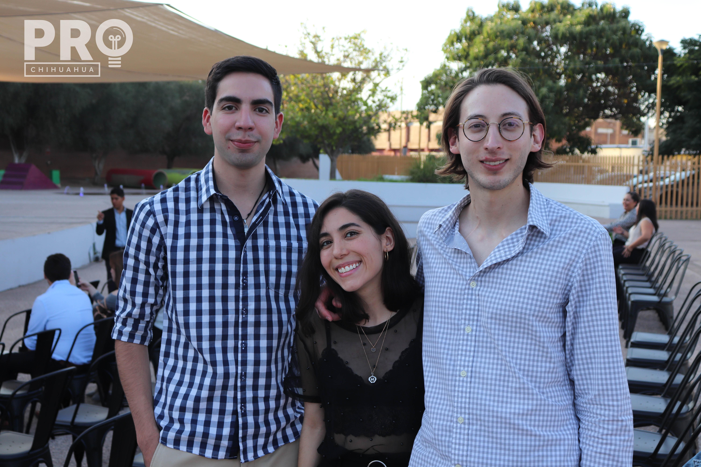 Rubén Ruiz, Mariana Garza y Alejandro Martínez