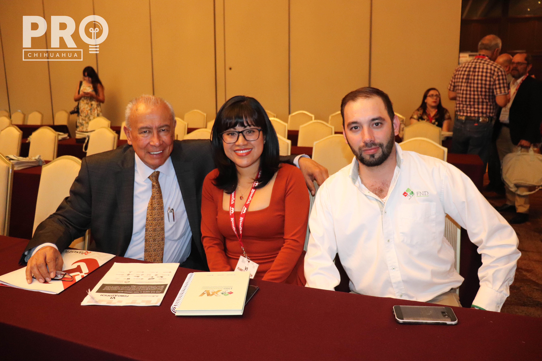 Jorge Gómez, Olga Reyes y Edgar del Ángel