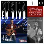 Luis Espinoza de La Voz México 2017 cantará en Distrito Uno