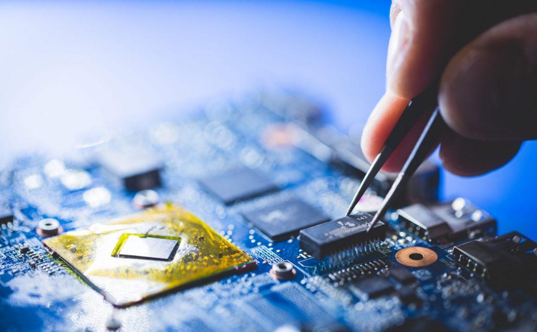 Microchip installation on CPU board